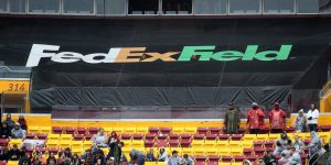 LANDOVER, MD - SEPTEMBER 23: Fans watch the Washington Redskins and Green Bay Packers game in the second half at FedExField on September 23, 2018 in Landover, Maryland. (Photo by Rob Carr/Getty Images)
